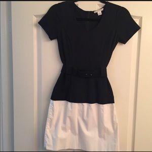 Diane Von Furstenberg navy and white dress!